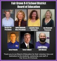 Fair Grove R-X Board of Education Honored for their Service to the Community