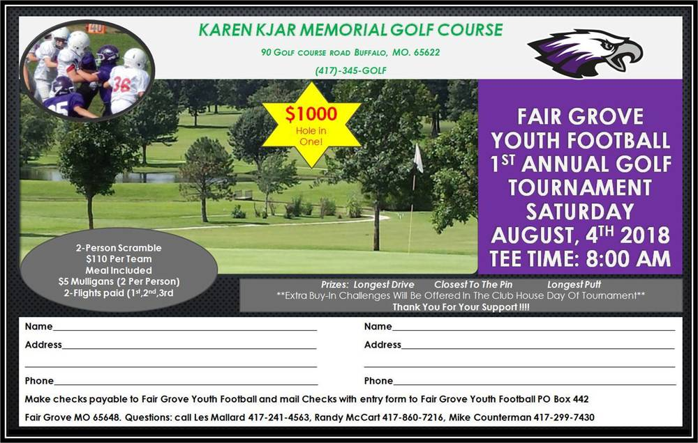 FG Youth Football GOLF TOURNAMENT Fundraiser