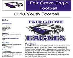 FG Eagles Youth Football Starts Aug. 28 @ 6pm