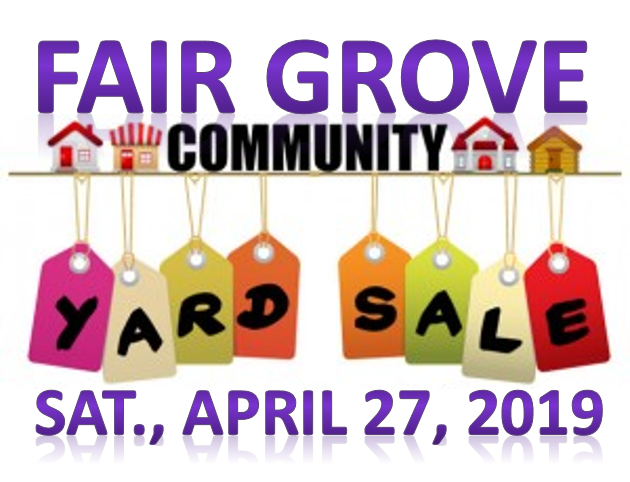Fair Grove Community Yard Sale 4-27-19