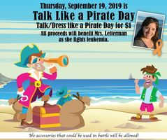 Thursday: Talk Like a Pirate Day & Friday: Hat Day