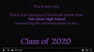 FGHS Class of 2020 Senior Video