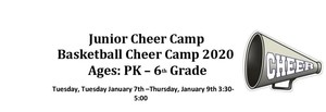 2020 PK-6th Grade Junior Cheer Camp