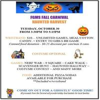 FGMS Student Carnival Tues., Oct. 30th  3:30 - 5:15