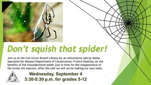 FG Branch Library Talks Spiders
