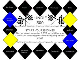Undie 500 Hygiene Drive Nov. 6th