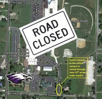 South Entrance to Campus Closed Until June 12th