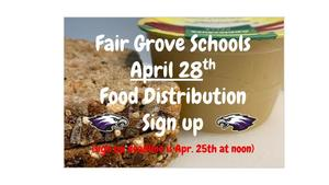 April 28th Food Distribution Sign Up