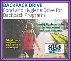 Backpack Program Food & Hygiene Drive Aug. 22 from 4-6pm