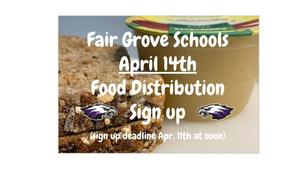 April 14th Food Distribution Sign Up