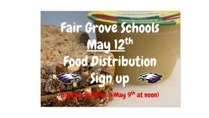 May 12th Food Distribution Sign Up
