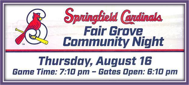 FG Night @ Springfield Cardinals Aug 16th