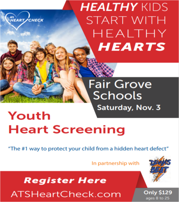 Youth Heart Screenings @ FG School Nov. 3rd