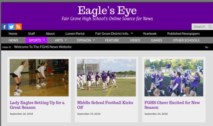 Eagle's Eye News screen capture