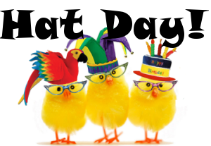 hat day chickens