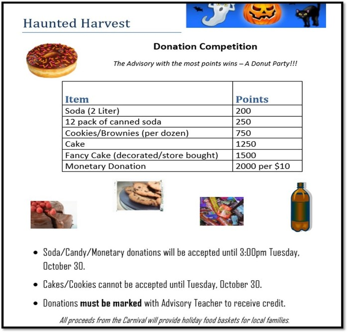 haunted harvest donations