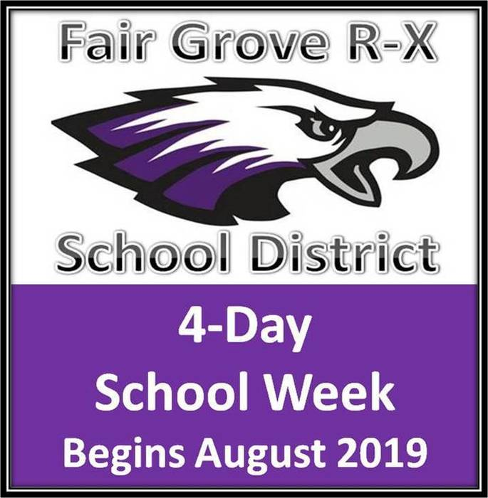 4-Day School Week Begins Aug. 2019