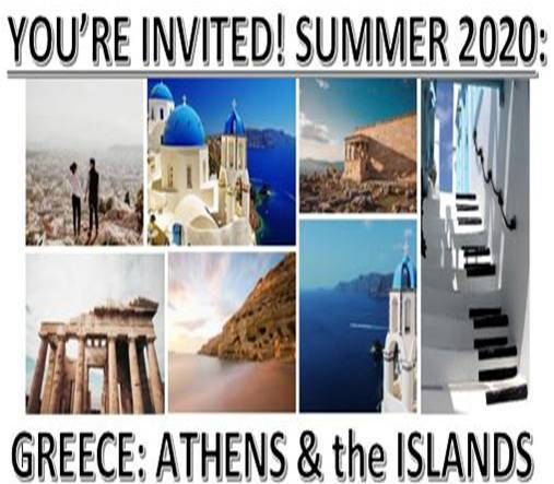 FG Culture Club 2020 Trip to Greece