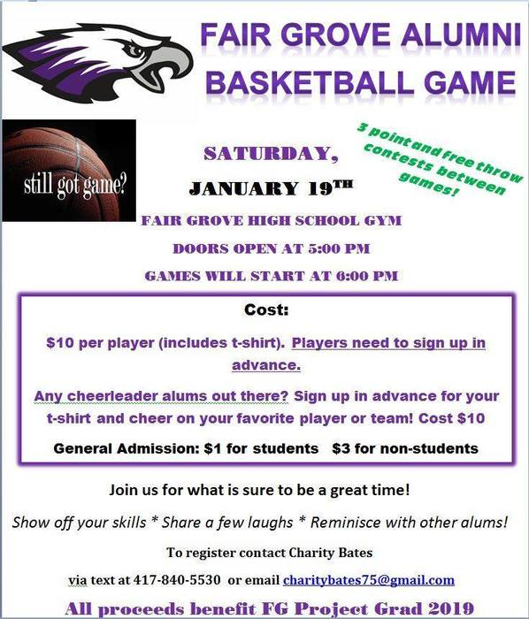 FG Alumni Basketball Game Jan 19th
