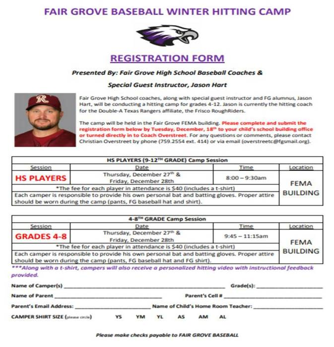 Hitting Camp Form