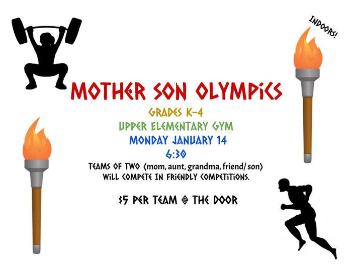 FG PTO Mother Son Olympics Jan. 14th