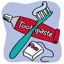 toothpaste and floss