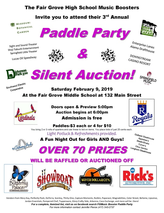Music Boosters Paddle Party & Silent Auction