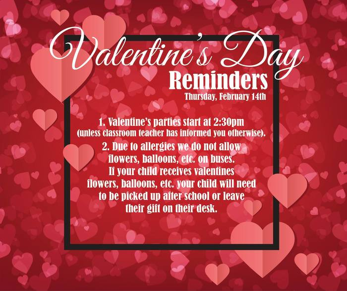 Valentine's Day Reminders