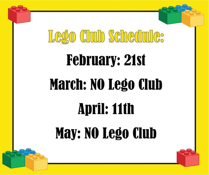 Lego Club Dates