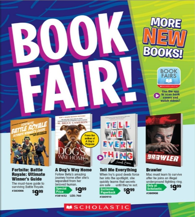 FG Middle & High School Book Fair Apr. 1-8