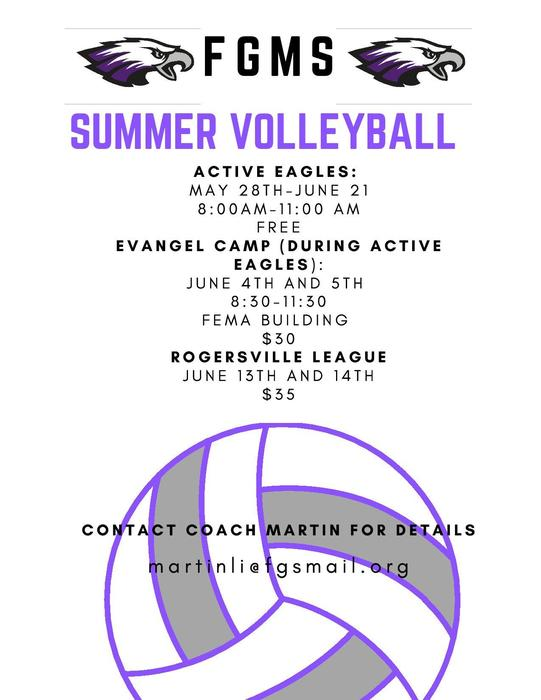 FGMS Summer Volleyball Info