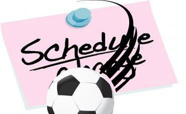 soccer schedule change