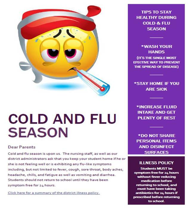 Cold & Flu Season Reminders