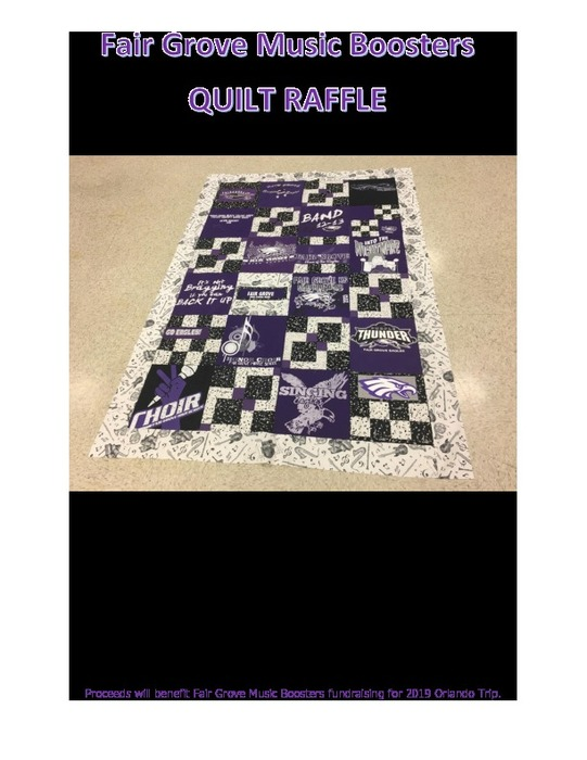 Music Boosters Quilt Raffle