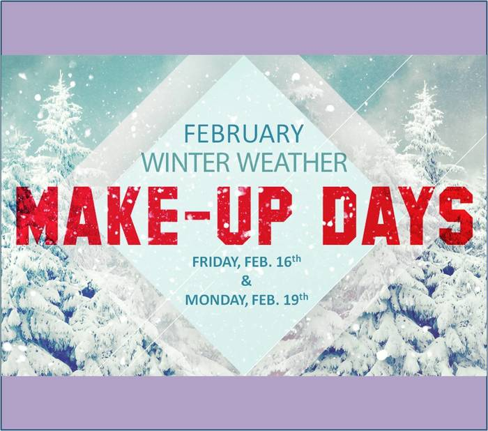 Feb 2018 Snow make up days