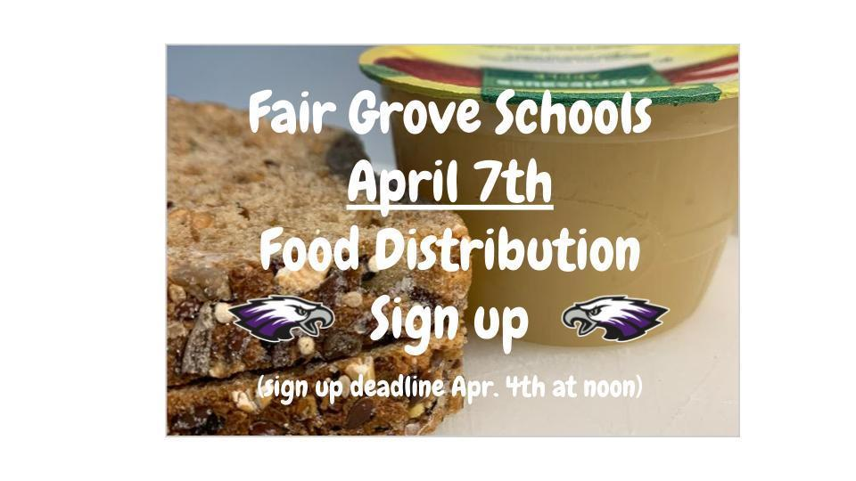 April 7th food distribution sign up