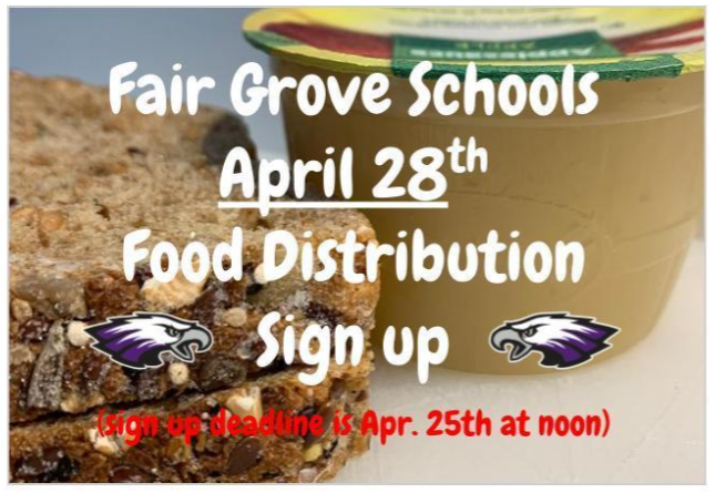 April 28th Food Distribution