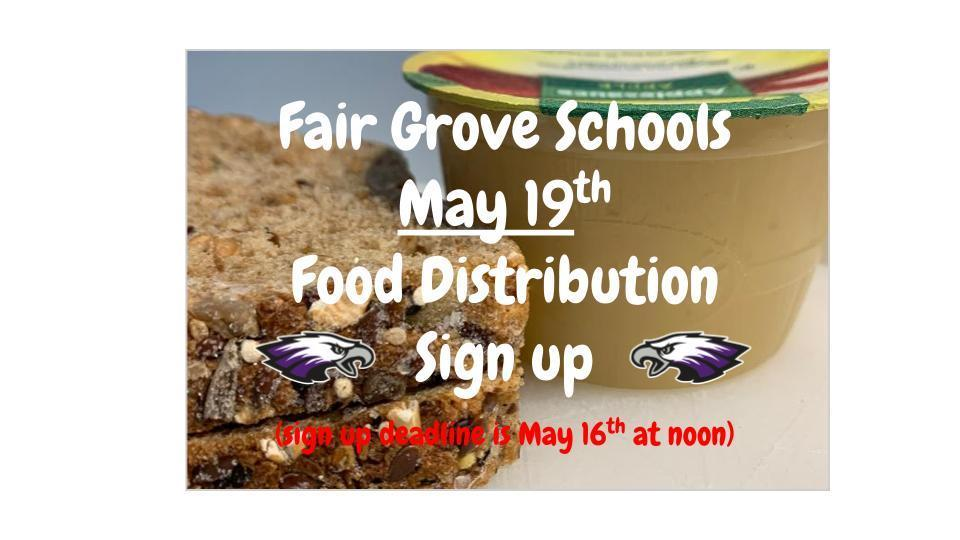 May 19th Final Food Distribution