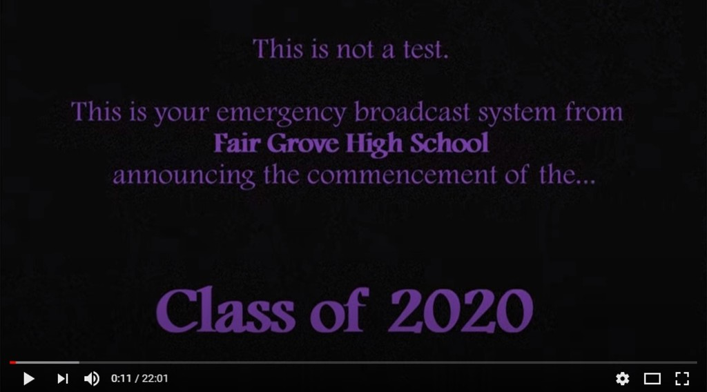 Class of 2020 Video