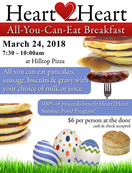 H2H Pancake Breakfast Mar. 24th