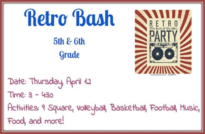 5th & 6th Grade Retro Bash 4/12