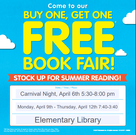 FGE BOGO Book Fair April 2018