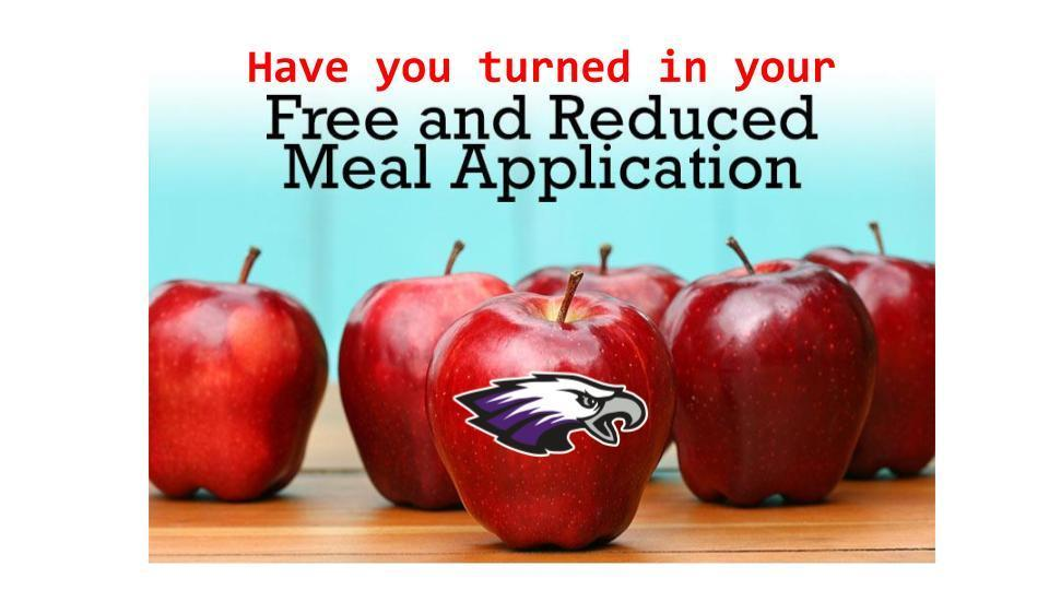 Free & Reduced Meal Apps Due